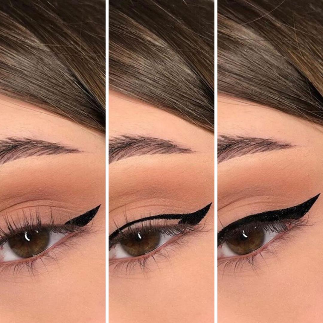 stempel do eyelinera, jak zrobić idealną kreskę eyelinerem, jak narysować kreskę na oku , jak malować kreski na gornej powiece, stempelek do kresek